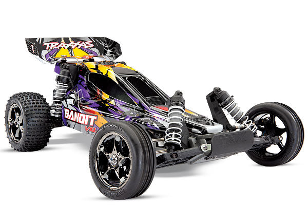 Bandit VXL: 1/10 Scale Off-Road Buggy. Ready-to-Race® with TQi Traxxas Link™ Enabled 2.4GHz Radio System, Velineon VXL-3s brushless ESC (fwd/rev), and Traxxas Stability Management (TSM)®.