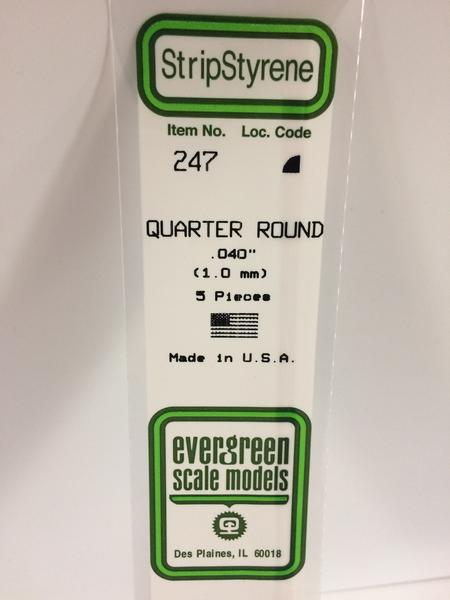 Strip Styrene Quarter Round