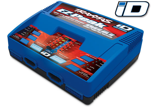 Charger, EZ-Peak Dual 100W NiMH/LiPo dual charger with iD Auto Battery Identification