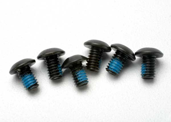 Screws, 4x6mm button-head machine (hex drive) (with threadlock) (6)