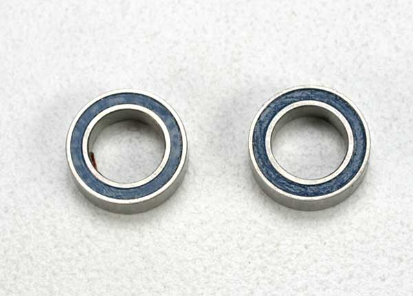 Ball bearings, blue rubber sealed 5x8x2.5mm (2)