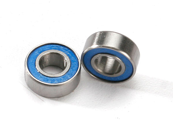 Ball Bearing Blue Rubber Sealed 6x13x5mm (2)