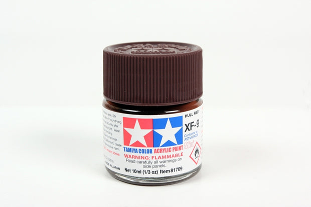 Tamiya Acrylic Paint 1/3oz. Hull Red XF9