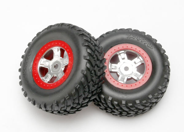 1/16 Slash Wheels/Tires Red