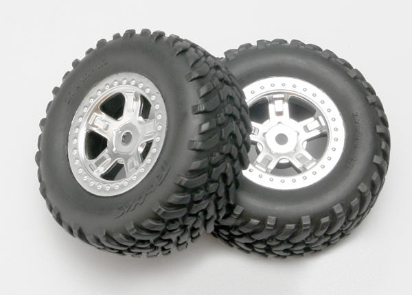 1/16 Slash Wheel/Tires Chrome