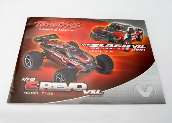 Owner's Manual 1/16 E-Revo VXL/Slash VXL