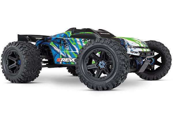 E-Revo VXL Brushless: 1/10 Scale 4WD Brushless Electric Monster Truck with TQi 2.4GHz Traxxas Link™ Enabled Radio System, Velineon VXL-6s brushless ESC (fwd/rev), and Traxxas Stability Management (TSM)