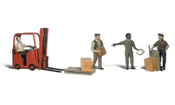 Workers With Forklift HO