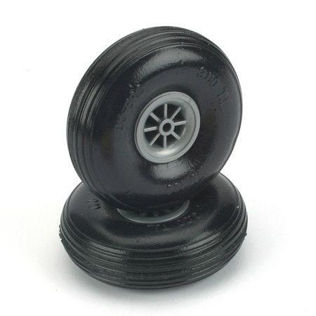 "2-1/4"" Treaded Lightweight Wheels"