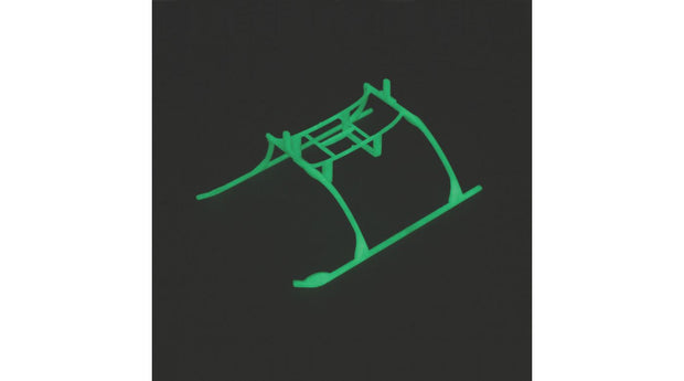 LANDING SKID & BATT MNT SET, GLOW IN DARK BMCX
