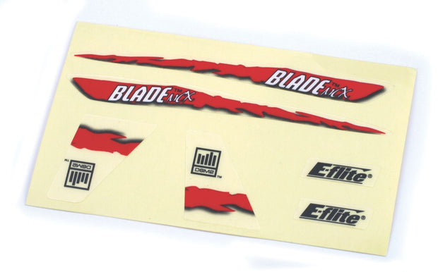 DECAL SHEET RED GRAPHICS BMCX