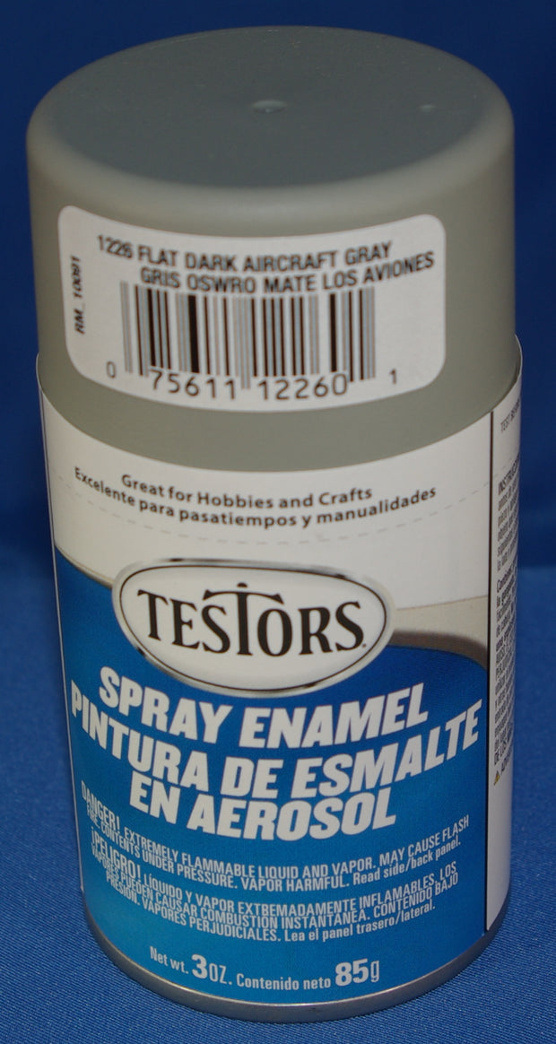 Testors 3oz Spray Enamel Flat Dark Aircraft Grey