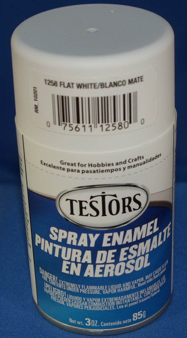 Testors 3oz Spray Enamel Flat White