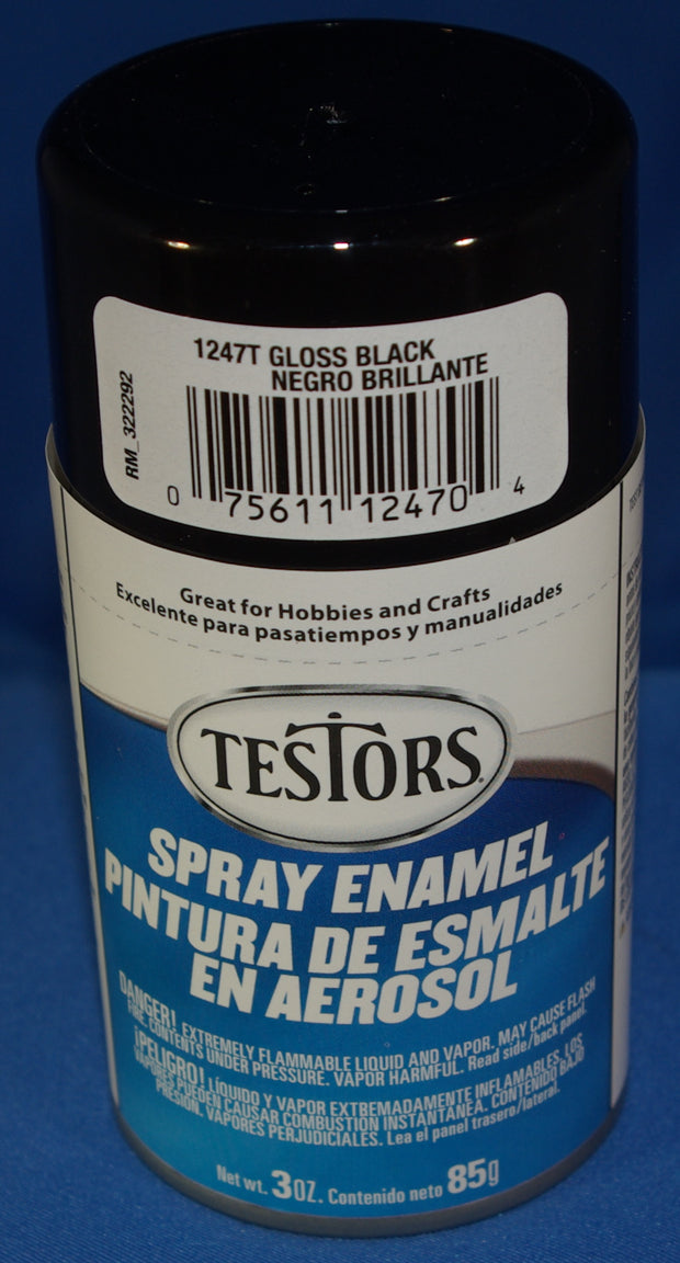 Testors 3oz Spray Enamel Gloss Black