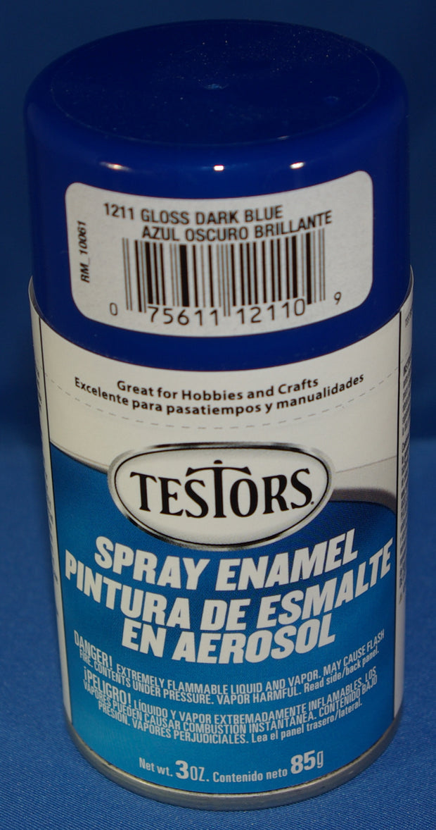 Testors 3oz Spray Enamel Gloss Dark Blue