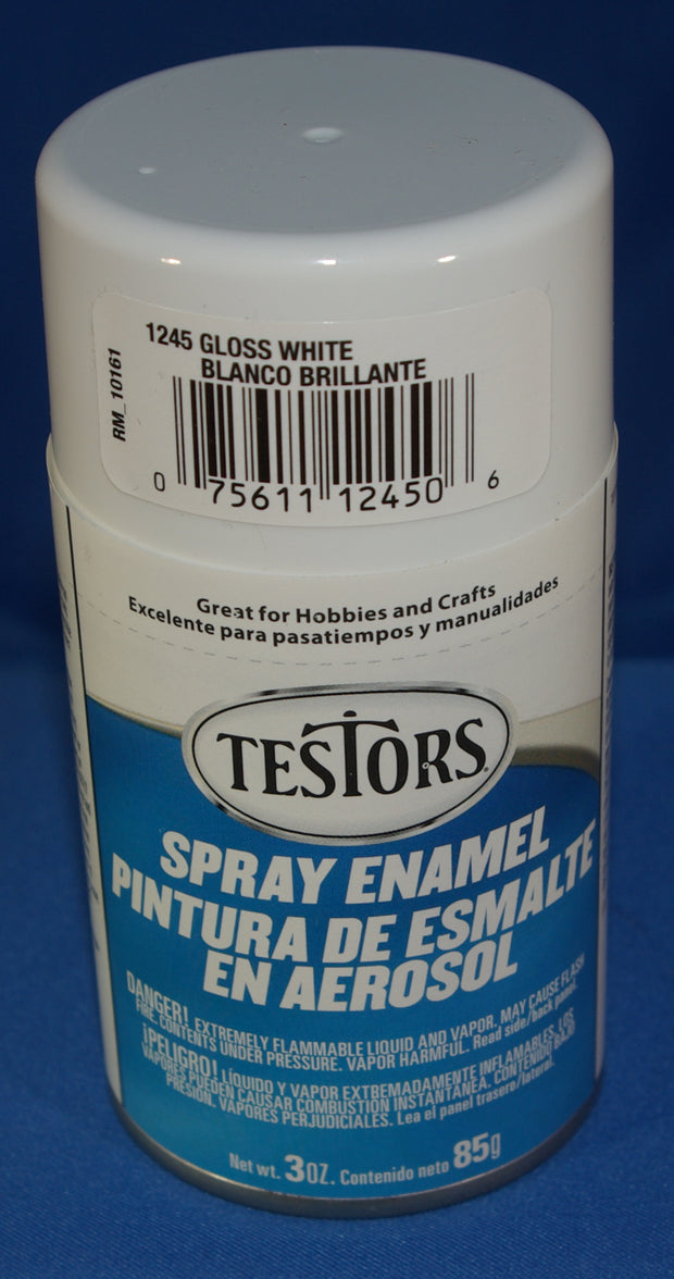 Testors 3oz Spray Enamel Gloss White