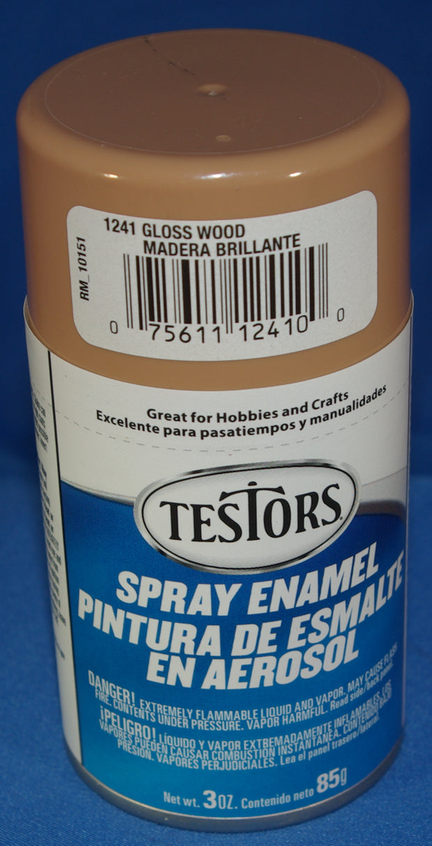 Testors 3oz Spray Enamel Gloss Wood