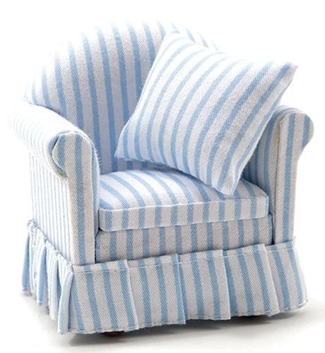 Chair Blue And White Stripe