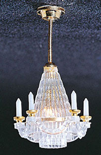 Brass downward chandelier