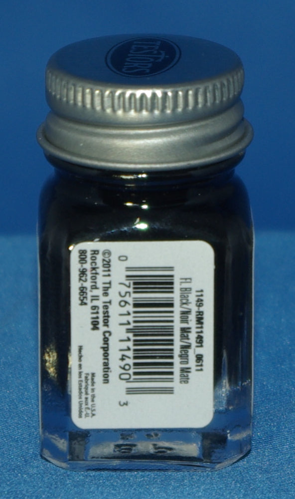 Testors 1/4 oz Paint Flat Black