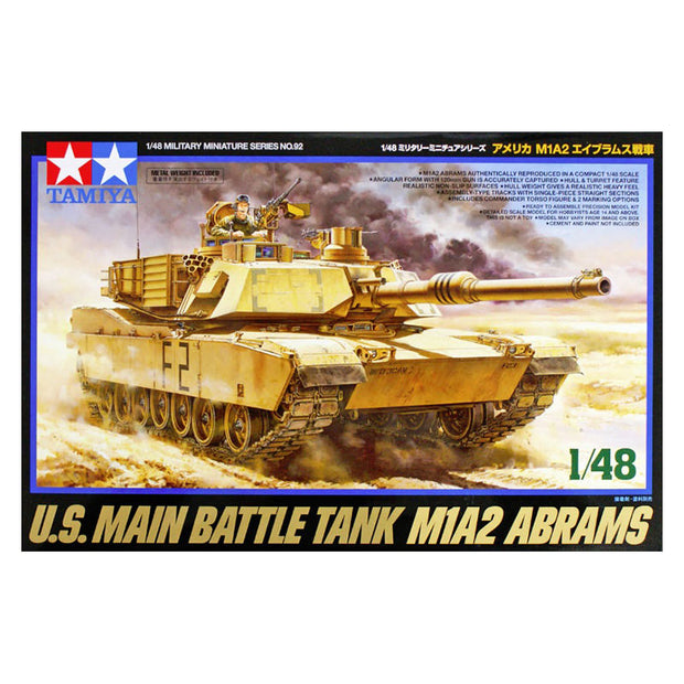 1/48 U.S. Main Battle Tank M1A2 Abrams Model Kit