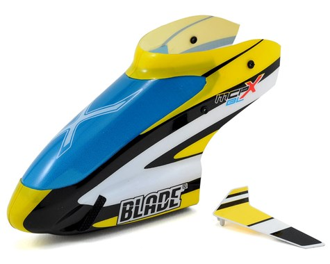 Blade Stock Blue/Yellow Canopy (mCP X BL)