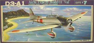 "1/72 D3-A1 Aichi Type 99 Model 11 ""Val"" Japanese Naval Carrier Dive-Bomber"