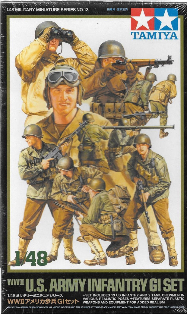 1/48 WWII US Army Infantry GI Set