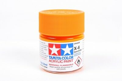 Tamiya Acrylic Paint 23ml Orange X6