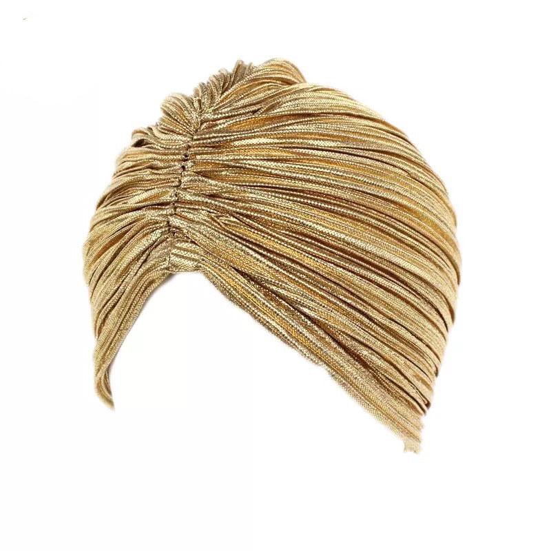 Gold Ruched Turban