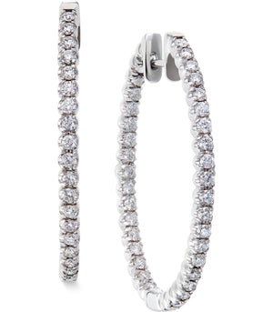 Infiniti Thin Diamond Hoops