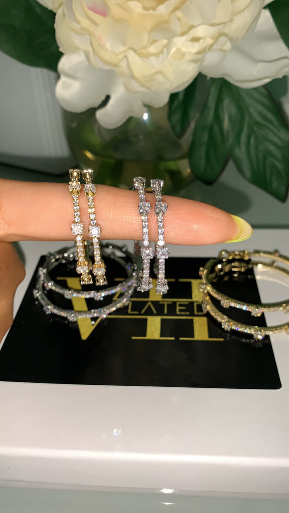 Diamond Diorr Hoops