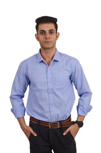 MEN'S REGULAR FIT SOLID BLUE VOILET SHIRT