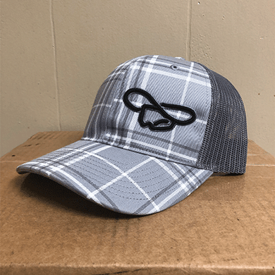 Gray Striped Hat