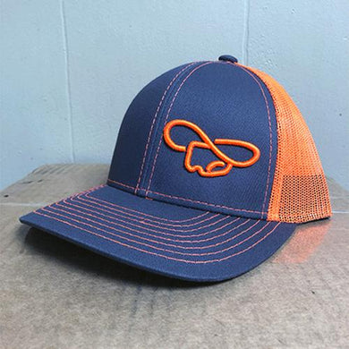 Gray & Orange Hat