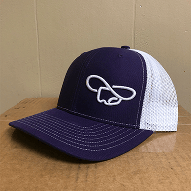 Purple & White Hat