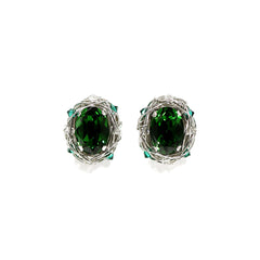 Classic Oval Stud Earrings