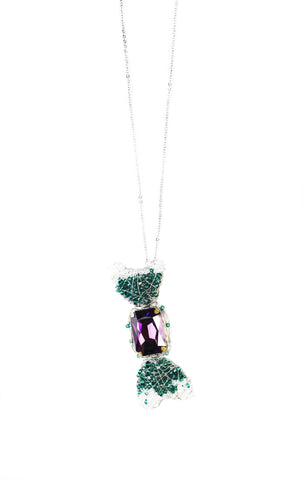 Limited Edition W BonBon Long Necklace - Purple