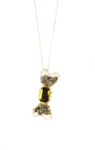 Limited Edition W BonBon Long Necklace - Gold