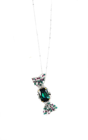 Limited Edition W BonBon Long Necklace - Green