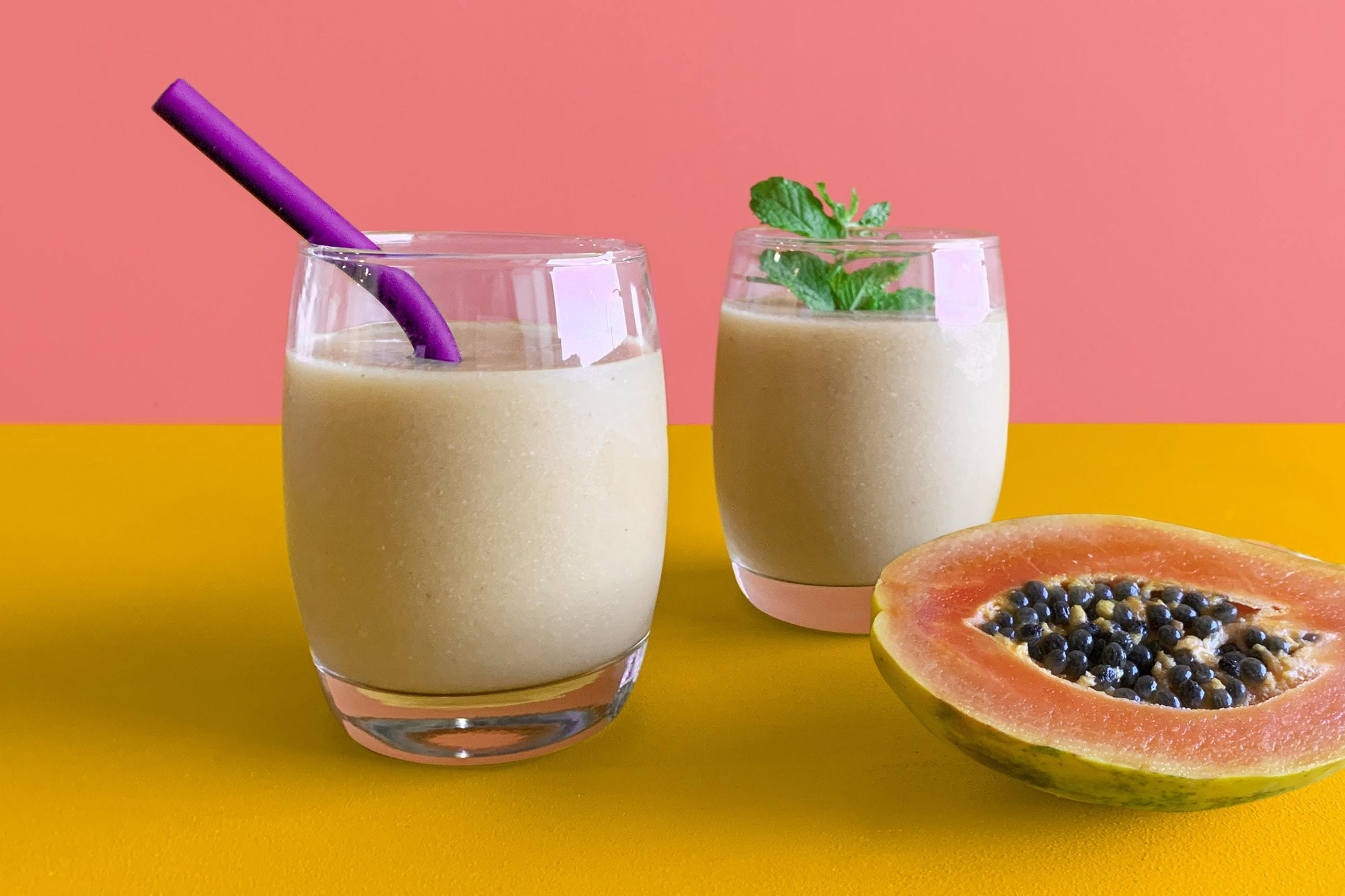 Papaya Coconut Smoothie