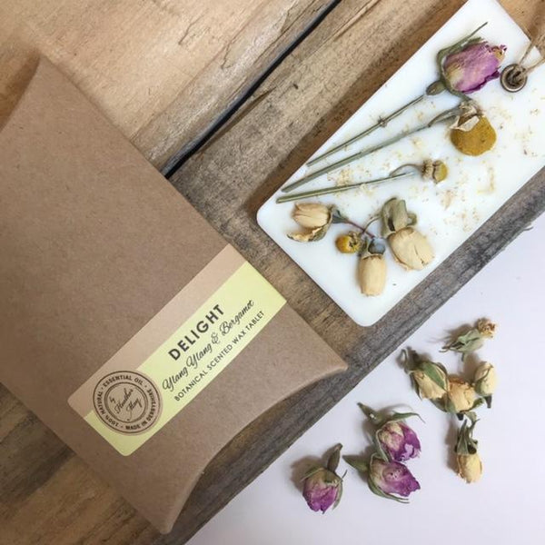 Heather May Botanical Room Fragrance Hanger: Delight, Revive, Inspire, Carefree, Boost, Unwind, Joy