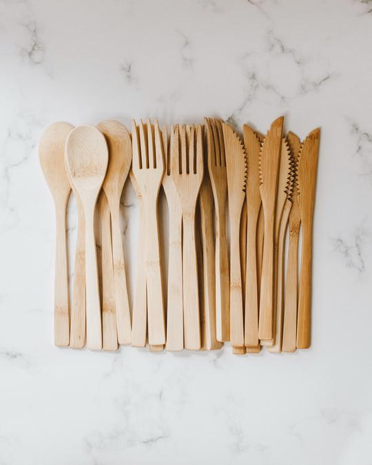 Goldrick Bamboo Cutlery - Knife, Fork, Spoon SOLD INDIVIDUALLY