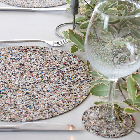 Liga Eco Table Mats Beach Clean Round BRAND NEW ONLINE!!