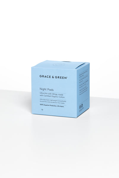 Grace & Green Organic Cotton Sanitary Pads NEW ONLINE!!