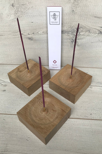 Oak Recycled Square Incense Burners BRAND NEW ONLINE!