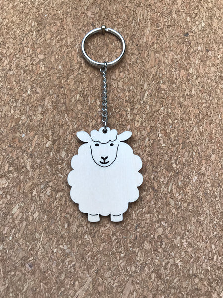 Art Cuts Key Rings: Baa, Hettie, Hamish, Morag, Buzz, Foxy, Derby Map