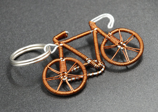 Cycle Of Good Recycled Copper Key Ring