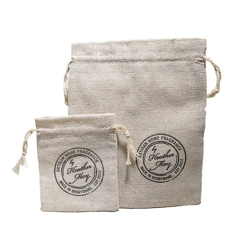 Heather May Mini Candle Linen Gift Bag: Small, Medium, Large
