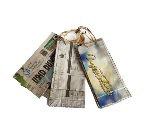 Cycle Of Good Single Upcycled Small Newspaper Gift Bags